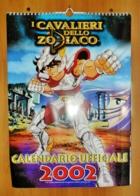 """""""i Cavalieri Dello Zodiaco"""" Calendario Ufficiale 2002, Nuovo Cm 30x42 - Calendriers"""