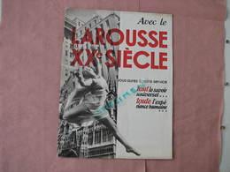 """Larousse 1935 Catalogue """"Larousse Du XX° Siecle 12 Pages 20X27 + Bon De Commande BE - Dictionnaires"""