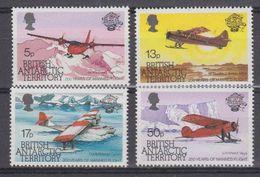 British Antarctic Territory 1983 Manned Flight 4v  ** Mnh (41655) - Brits Antarctisch Territorium  (BAT)