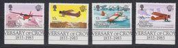 British Antarctic Territory (BAT) 1983 Manned Flight 4v (+margin) ** Mnh (41656) - Brits Antarctisch Territorium  (BAT)