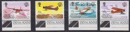 British Antarctic Territory (BAT) 1983 Manned Flight 4v (+margin) ** Mnh (41656A) - Brits Antarctisch Territorium  (BAT)