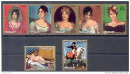 150 ANIVERSARIO DE LA MUERTE DE NAPOLEON BONAPARTE 1821-1971 LAS MUJERES DE NAPOLEON SERIE COMPLETA PARAGUAY MNH - Art