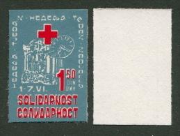 Yugoslavia 1984 Solidarity, Red Cross, Selfadhesive, MNH - Timbres-taxe