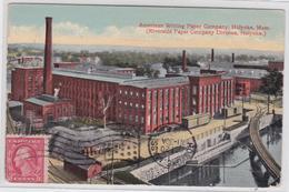 HOLYOKE Massachusetts - American Writing Paper Company - Papeterie - Etats-Unis