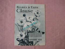 Clause Automne 1938 Catalogue 32 Pages 175X240 + Bon De Commande Superbe Etat - 2. Graines