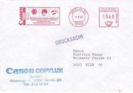 Germany Cover W/Machine Cancel 1981 Berlin CANON Offizieller Kopierer FIFA World Cup Football Spain 8 - World Cup