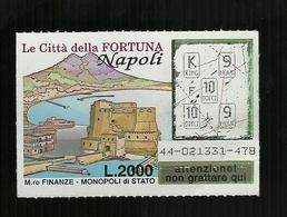 Gratta E Vinci - Le Città Della Fortuna - Napoli - Lotto 44 - Biglietti Della Lotteria