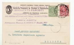 5178 NAPOLI PORTICI SINDACATO TECNICI AGRARI FASCISTI  ANNUARIO TECNICA AGRARIA - 1900-44 Vittorio Emanuele III