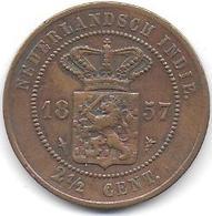 NEDERLANDSCH INDIE  - 2 1/2 Cent    1857 - [ 4] Colonies