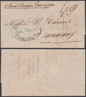 "BATAVIA 1855 Vers SAMARANG "" ZEE BRIEF SAMARANG"" (AIX3771) DC-1387 - Indes Néerlandaises"