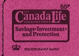 GRANDE BRETAGNE CARNET DE 85 P.CANADA LIFE  TIMBRE 15 X 4 1/2p + 5 X 3 1/2 P 1974 PARFAIT ETAT - Libretti