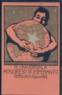 Bern,  IX. Universala Kongreso De Esperanto, Litho (20.11.1913) Pli - Esperanto