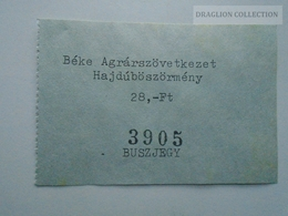 ZA153.28 Bus Autobus Ticket Hungary Hajdúböszörmény - Transportation Tickets