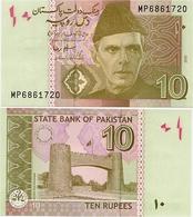 PAKISTAN        10 Rupees        P-45e       2010       UNC  [sign. Salim Raza] - Pakistan