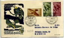 Guinea Española Nº 365/67en Sobre - Guinea Española