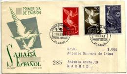 Sahara Nº 180/81-183 En Sobre - Sahara Español