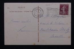 FRANCE - Type Semeuse Perforé Sur Carte Postale En 1930 - L 20720 - Perforés