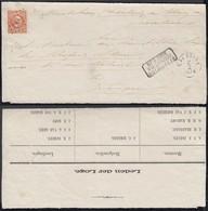 "INDE NEERL 1876 Yv 8 Sur Devant De Lettre De SALATIGA Griffe "" NED:INDIE VIA BRINDISI BRIT.PAKKET B.""(AIX3771) DC-1390 - Indes Néerlandaises"