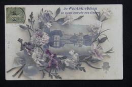 FRANCE - Type Semeuse FM Sur Carte Postale De Fontainebleau - L 20724 - Poststempel (Briefe)
