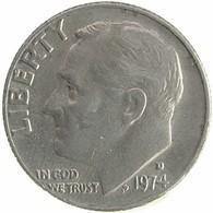 1974 - United States 1 Dime  (D) - KM# 195a -F - Emissioni Federali