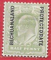 Bechunaland Protectorat N°22 0,5p Vert 1904-12 * - Bechuanaland (...-1966)