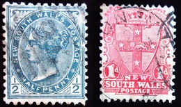 1897 New South Wales Yt 72, 75 .Coat Of Arms . Coat Of Arms . Oblitérés - 1850-1906 New South Wales