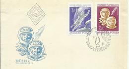 HUNGRIA   , CARTA TEMA ESPACIO - Cartas