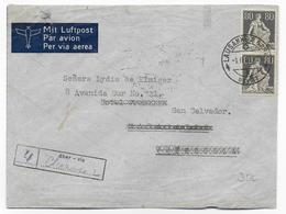 SUISSE - 1940 -  POSTE AERIENNE - ENVELOPPE Par AVION De LAUSANNE => VENEZUELA READRESSE => SAN SALVADOR - Airmail