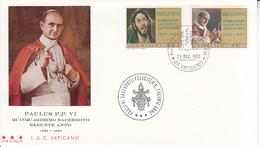 Vaticano - 50 Anni Di Sacerdozio Di Paolo VI 1970 FDC - FDC