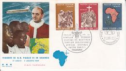 Vaticano - Paolo VI In Uganda 1969 FDC - FDC