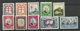 LETTLAND Latvia 1930 Michel 161 - 170 Tuberkulosis * - Lettonie
