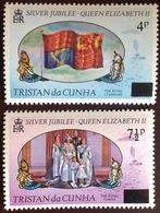 Tristan Da Cunha 1978 Silver Jubilee Surcharges MNH - Tristan Da Cunha
