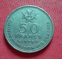 Comoros, 50 Francs, 1975, Paris, TTB, Nickel,(B4 - 36) - Comoros