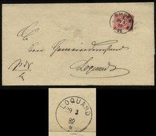 S1981 DR 10 Pfg Brief Ostfriesland, Gebraucht Emden - Loquard 1882 , Bedarfserhaltung Ohne Inhalt. - Allemagne