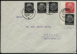 S1902 DR Hindenburg Zusammendruck Auf Brief, Gebraucht Kassel 1940 , Bedarfserhaltung. - Allemagne