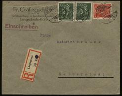 S1776 DR Infla Firmen R - Brief , Gebraucht Langschede Ruhr - Halberstadt 1922 , Bedarfserhaltung. - Deutschland
