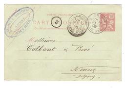 PR6152/ Levant Entier CP 10 C C.G.Christoph Agent Smyrne C.Smyrme Turquie D'Asie 1906 V.Ninove C.d'arrivée - Levant (1885-1946)