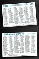 Calendarietto Pubblicitario 2019 - Lega Del Filo D'oro - Formato Piccolo : 2001-...