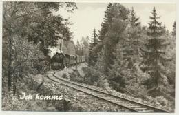 AK  Dampflok Ich Komme - Trains
