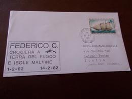 B710   Busta Isole Malvine Federico C.crociera Terra Del Fuoco - Interi Postali