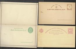 HUNGARY  ONE REPLY CARD  AND TWO  STATIONARY CARDS  UNUSED. - Hungary