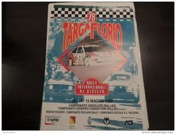 MANIFESTO ORIGINALE RALLY 82 TARGA FLORIO 1998 Cm.70x100 PEUGEOT 306 - Manifesti