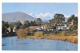 NEPAL KATHMANDU PASUPATHINATH TEMPLE AND THE GANESH HIMAL MOUNTAINS 1974 - Nepal