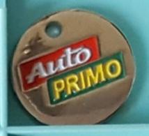 Jeton De Caddie Argenté  Automobile  Garages  AUTOPRIMO - Trolley Token/Shopping Trolley Chip