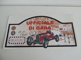 MAX BIG CM.21X42 Adesivo Stiker Etiqueta PLACCA RALLY TARGA FLORIO AUTOSTORICHE - Adesivi