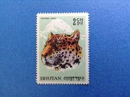 BHUTAN 2 CH FAUNA ANIMALI PANTHERA UNCIA FRANCOBOLLO NUOVO STAMP NEW MNH** - Bhutan