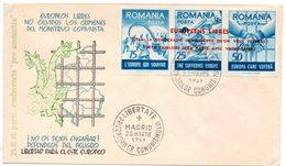 Europa.Roumanie.Liberté Pour L'europe De L'Est. L'europe Qui Souffre. Cachet à Date : Madrid 25 Mars 1961. - Europese Instellingen