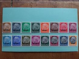GERMANIA 1938/45 - OCCUPAZIONE ALSAZIA - Nn. 8/23 Nuovi * Serie Completa + Spese Postali - Occupazione 1938 – 45