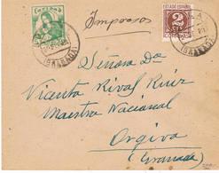 España. Carta Circulada Como Impresos Con Sello Local De Motril - 1931-Hoy: 2ª República - ... Juan Carlos I