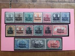 ANTICHI STATI TEDESCHI - BAVIERA - Nn. 136/51 Serie Completa Nuova * (punti Di Ruggine) + Spese Postali - Bayern (Baviera)